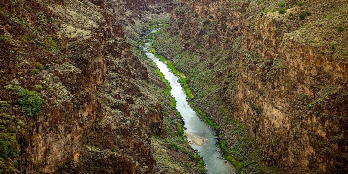 Rio Grande River flowing through a canyon